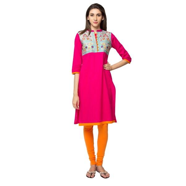 0aef24acfbf Shop Handmade In-Sattva Ethnicity Women's Royal Kurta Tunic (India ...