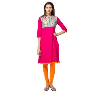 In-Sattva Ethnicity Women's Royal Hand Embroidered Kurta Tunic