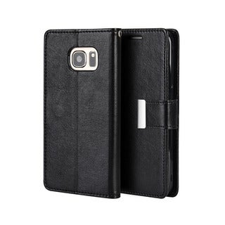 Samsung Galaxy S7 Black Synthetic Leather Wallet