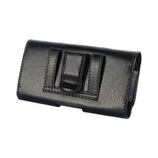 Black Plastic Horizontal Pouch for HTC One M7 and Samsung Galaxy S3 and S4