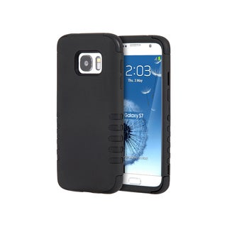 Samsung Galaxy S7 Black Skin 3-piece Hybrid Case