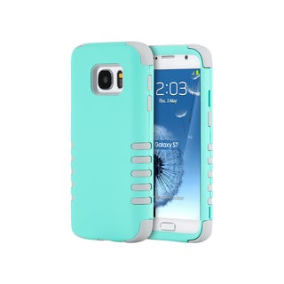 Samsung Galaxy S7 Teal and Grey Plastic Skin 3-piece Hybrid Case