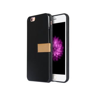 Apple iPhone 6/6S Luxury Card Holder Hybrid Case with Gold Stand