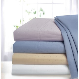 Superior 400 Thread Count Deep Pocket Cotton Swiss Dot Sheet Set