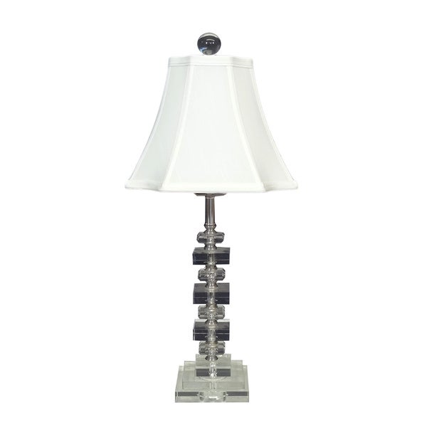 Clear Crystal Cubes Table Lamp