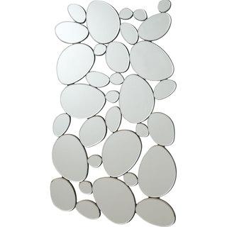 "Coaster Company Silver Round Shapes Mirror - 28.50"" x 1' x 51.50"""