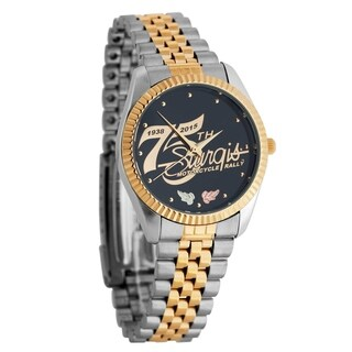 Officially Licensed 75th Sturgis Rally Men's Black Hills Gold Watch