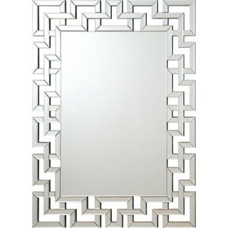 Coaster Company Greek Key Silver Interlocking Frameless Mirror
