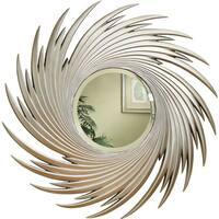 Coaster Company Silver Spiral Round Wall Mirror