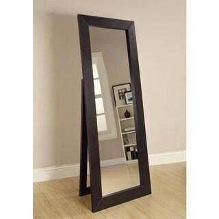 "Coaster Company Cappuccino Beveled Floor Mirror - 27.50"" x 1"" x 72"""