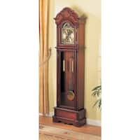 "Coaster Company Cherry Wood Grandfather Clock with Chime - 22"" x 10"" x 78.50"""
