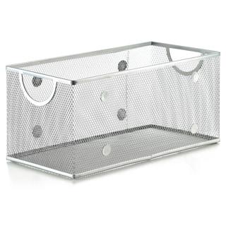 Superb Silver Stainless Steel Mesh Open Bin Storage Basket Organizer