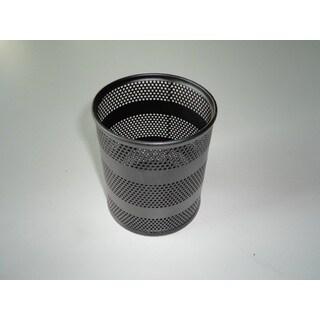 YBM Home Office Black Steel Mesh Round Pencil Cup