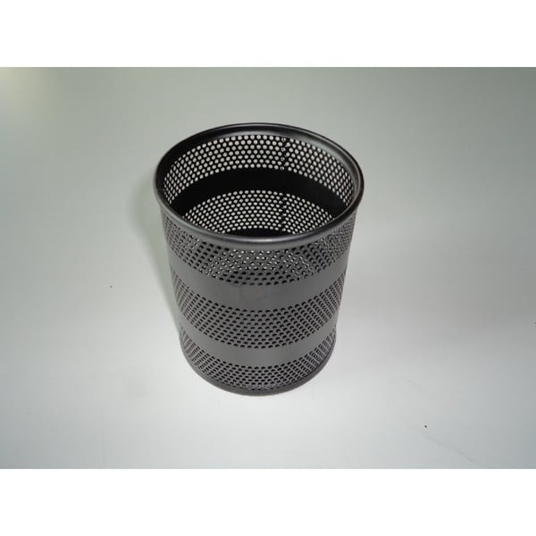 YBM Home Office Black Steel Mesh Round Pencil Cup