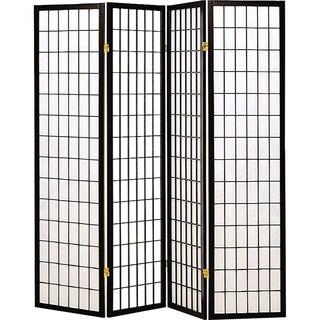 Coaster Company Black Fabric/ Wood 4-panel Folding Screen