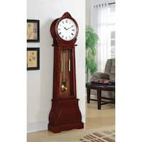 "Coaster Company Rich Brown Wood Simple Grandfather Clock with Westminster Chime - 20"" x 9"" x 71.75"""
