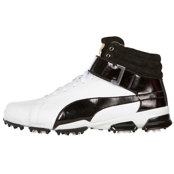 9a588a6fb63f3f Shop PUMA Titantour Ignite High-Top Golf Shoes - White Black - Free  Shipping Today - Overstock - 12157256