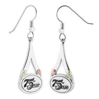 Officially Licensed 75th Sturgis Rally Black Hills Gold on Silver Earrings
