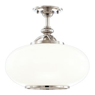Hudson Valley Canton 1-light 15-inch Semi Flush