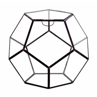 Dodecahedron Glass 11-inch x 9-inch Geometric Terrarium