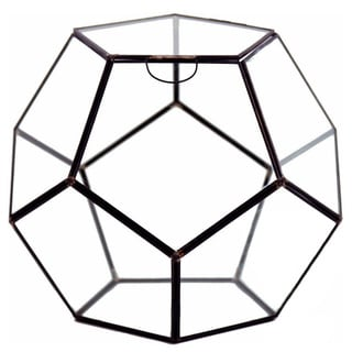Dodecahedron 9-inch x 7.5-inch Geometric Terrarium