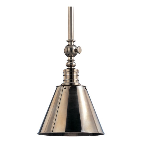 Hudson Valley Darien 1-light 15-inch Historic Nickel Pendant