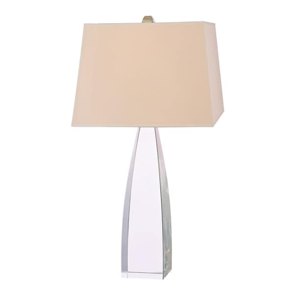 Hudson Valley Delano 1-light 30-inch Polished Nickel Table Lamp, Cream
