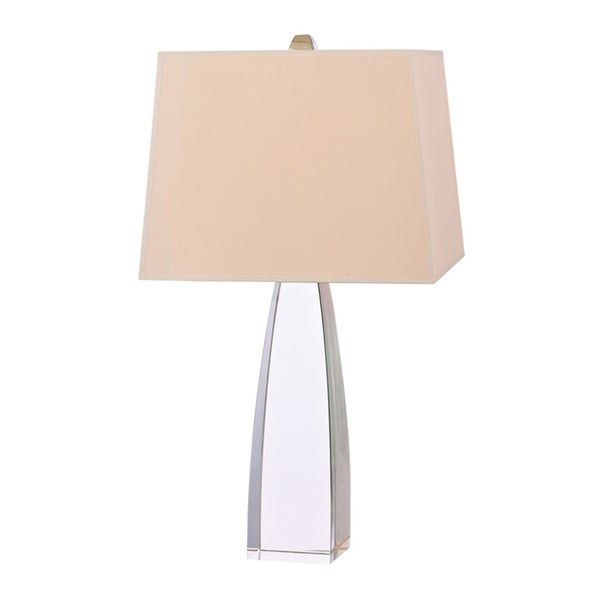 Hudson Valley Delano 1-light 26-inch Polished Nickel Table Lamp, Cream