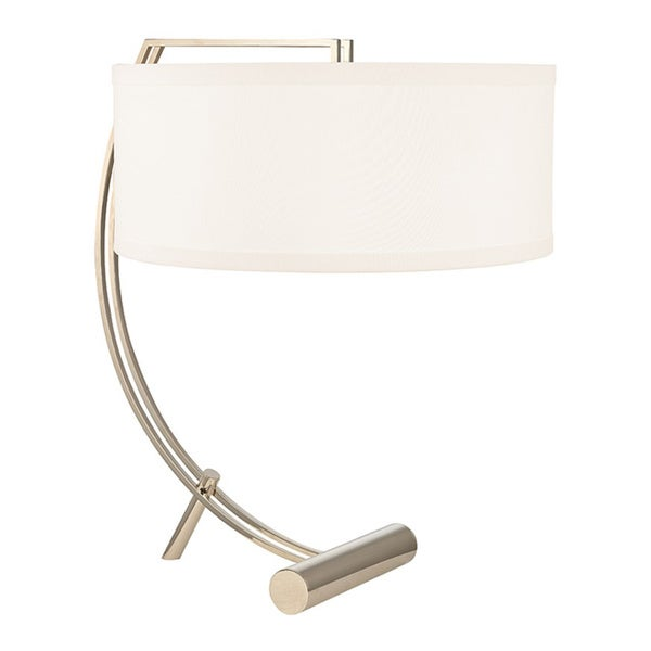 Hudson Valley Deyo 2-light Polished Nickel Table Lamp, White