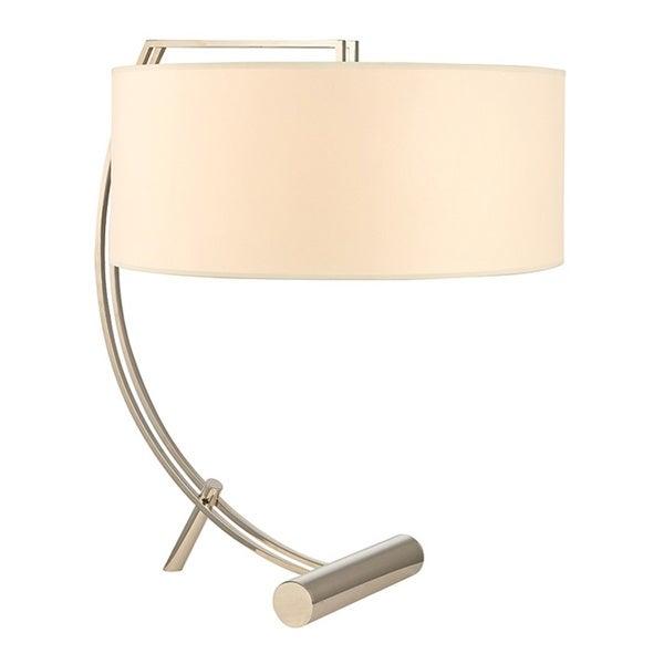 Hudson Valley Deyo 2-light Polished Nickel Table Lamp, Cream