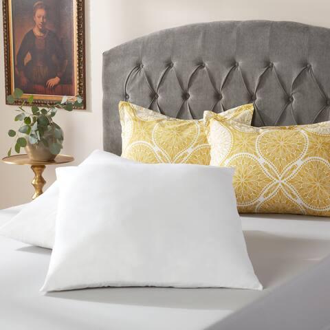 White Cotton 26 x 26-inch Euro Square Pillow (Set of 2)