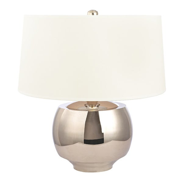 Shop hudson valley holden 1 light 20 inch polished nickel table lamp hudson valley holden 1 light 20 inch polished nickel table lamp white aloadofball Images