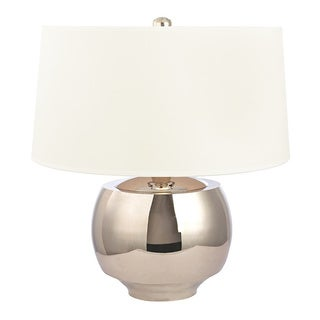 Hudson Valley Holden 1-light 20-inch Polished Nickel Table Lamp, White