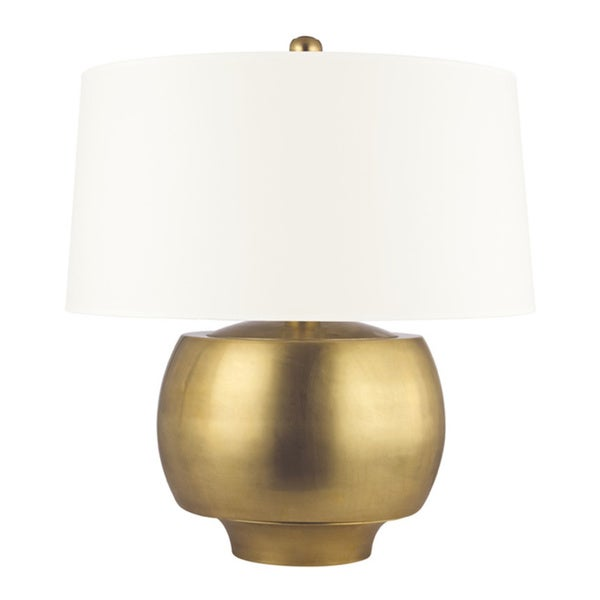 Hudson Valley Holden 1-light 20-inch Aged Brass Table Lamp