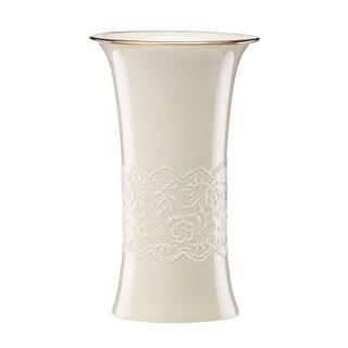 Lenox Gold Porcelain Lace Trumpet Vase