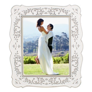 Lenox Opal Innocence White/Silvertone China/Platinum 8-inch x 10-inch Frame
