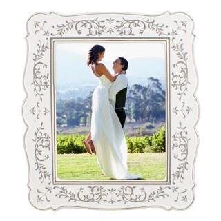Lenox Opal Innocence White/Silvertone China/Platinum 8-inch x 10-inch Frame