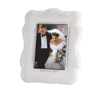 Lenox Opal Innocence 5-inch x 7-inch Love Is Frame