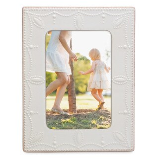 Lenox French Perle White Stoneware 4-inch x 6-inch Frame