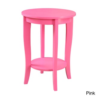 Porch & Den Bywater Villere Round Side Table (Option: Pink)