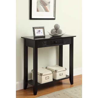Convenience Concepts American Heritage Hall Table with Drawer and Shelf
