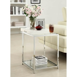 Silver Orchid Olivia End Table