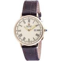 """Steinhausen Classic Men's S0124 """"Altdorf"""" Swiss Quartz Brown Leather Band Watch"""