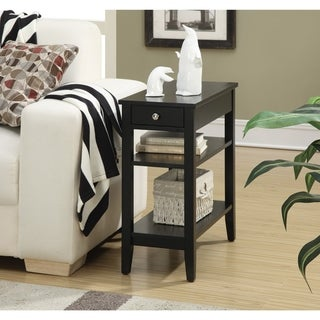 Convenience Concepts American Heritage Three Tier End Table with Drawer