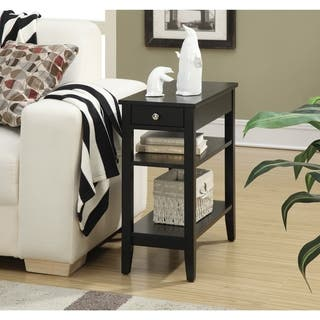 Convenience Concepts American Heritage Three Tier End Table with Drawer|https://ak1.ostkcdn.com/images/products/12157534/P19010598.jpg?impolicy=medium