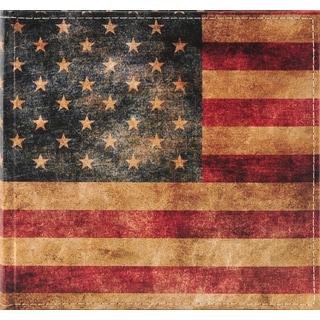 Pinnacle American Flag Multicolor Plastic 2-up Photo Album