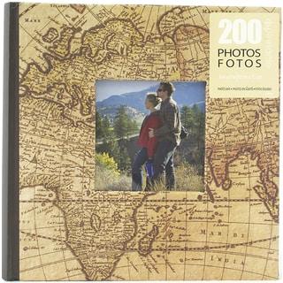 Pinnacle Brown Plastic Book-bound Graphic Travel Photo Album