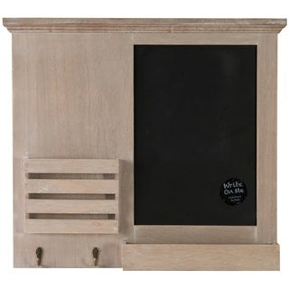 Gallery Solutions Tan/Black/Brown Wood 17.5-inch x 19.5-inch Chalkboard Memo Holder
