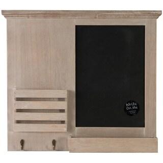 Gallery Solutions Tan/Black/Brown Wood 17.5-inch x 19.5-inch Chalkboard Memo Holder