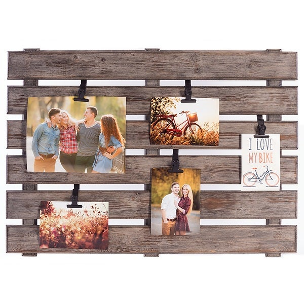 Shop Burnes Of Boston Grey Wood Large Pallet Photo And